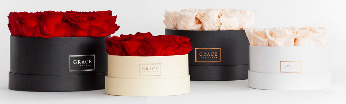 Grace Flowerbox Rosen Table Size Valentinstag