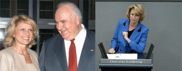 Dagmar Wöhrl, Helmut Kohl. D. Wöhrl im Deutschen Bundestag