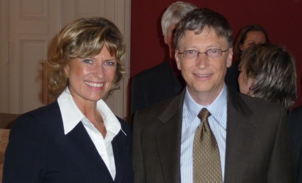 Dagmar Wöhrl und Bill Gates